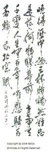 Japanese calligraphy shodo writing